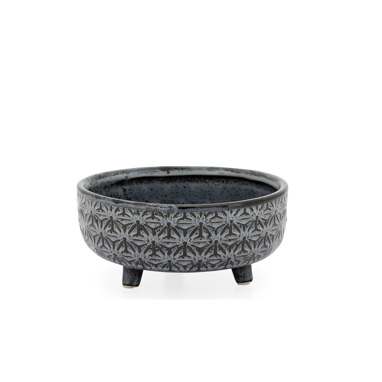 Star Blk Footed Succulent Pot