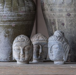 Load image into Gallery viewer, Stone Buddha Head