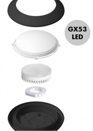Bertina Round LED Bulkhead - black or white