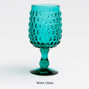 Claire Wine Glass - Teal