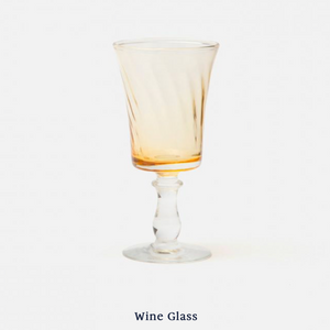 Colette Wine Glass - Yellow