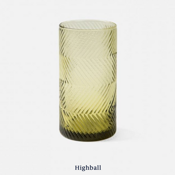 Finley Highball Glass - Olive