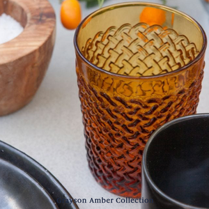 Grayson Tumbler Glass - Amber