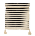 Cotton Runner Rug - Cream & Black