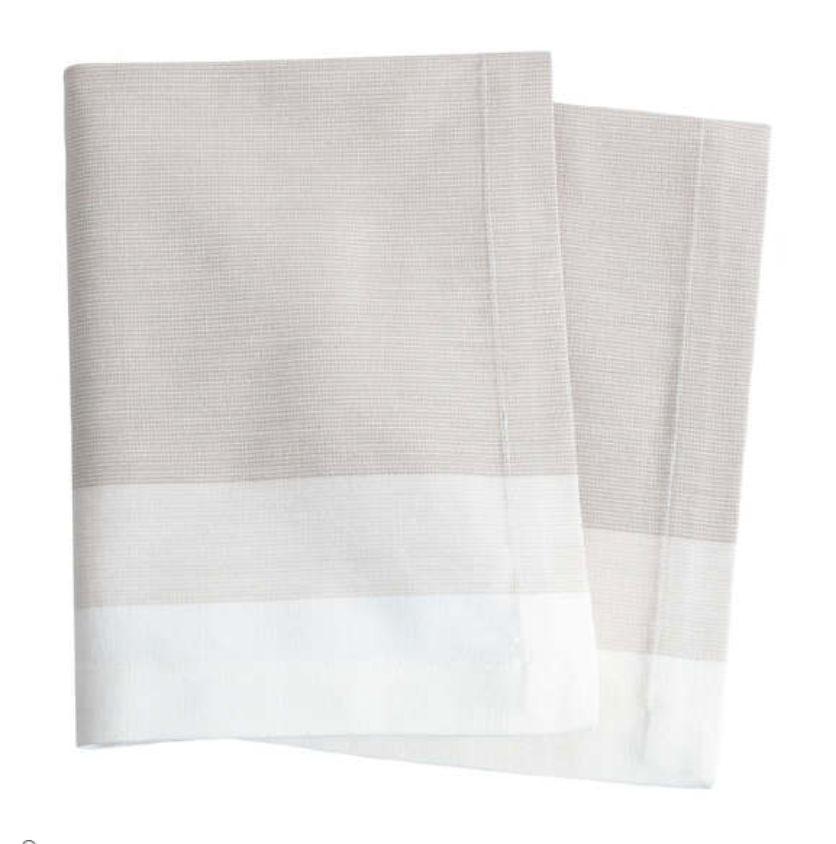 Load image into Gallery viewer, Cafe Stripe Napkin - Platinum