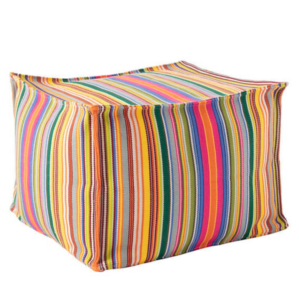 Load image into Gallery viewer, Tropical Stripe Pouf - Multi