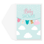 Clothesline In The Clouds Card