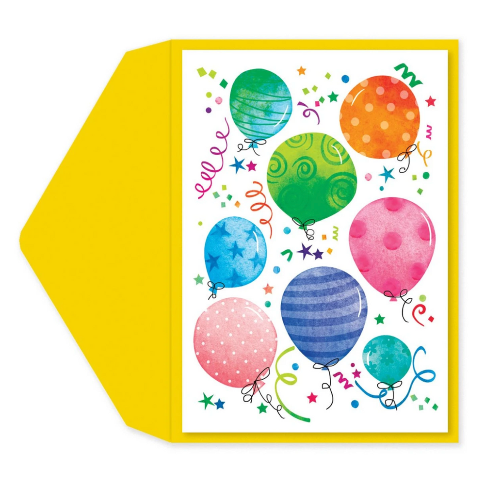 Happy Balloons Birthday Card