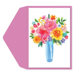 Watercolor Bouquet Card