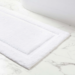 Classic White Bath Rug - Two Sizes