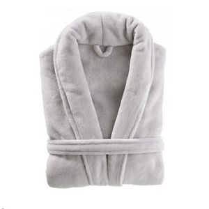 Sheepy Fleece Robe - Dove Grey