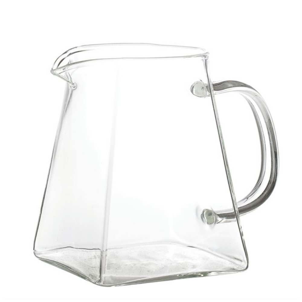 Glass Pitcher w/ Square Base