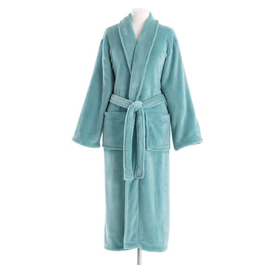 Load image into Gallery viewer, Sheepy Fleece Teal Robe