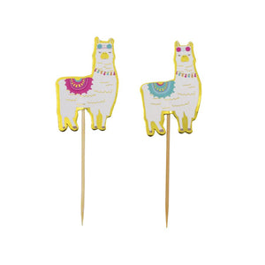 Load image into Gallery viewer, Cupcake Topper Llama