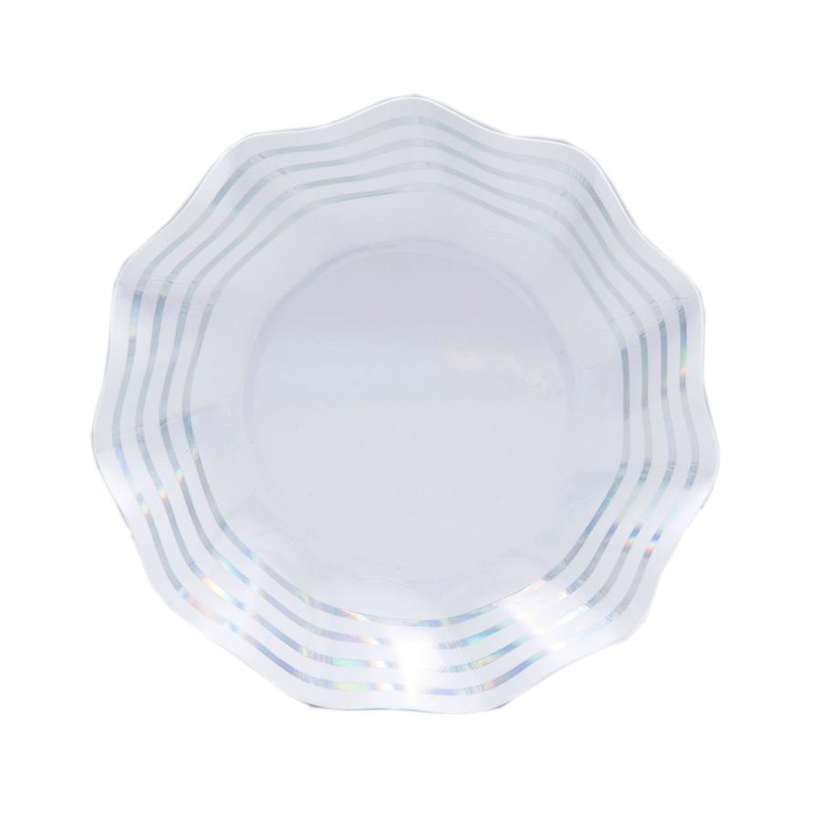 Load image into Gallery viewer, Wavy Appetizer/Dessert Bowl Iridescent