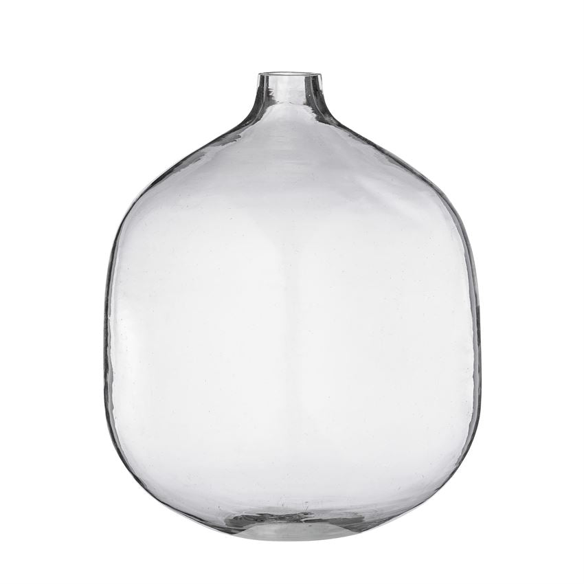 "7"" Round Glass Vase - Clear"