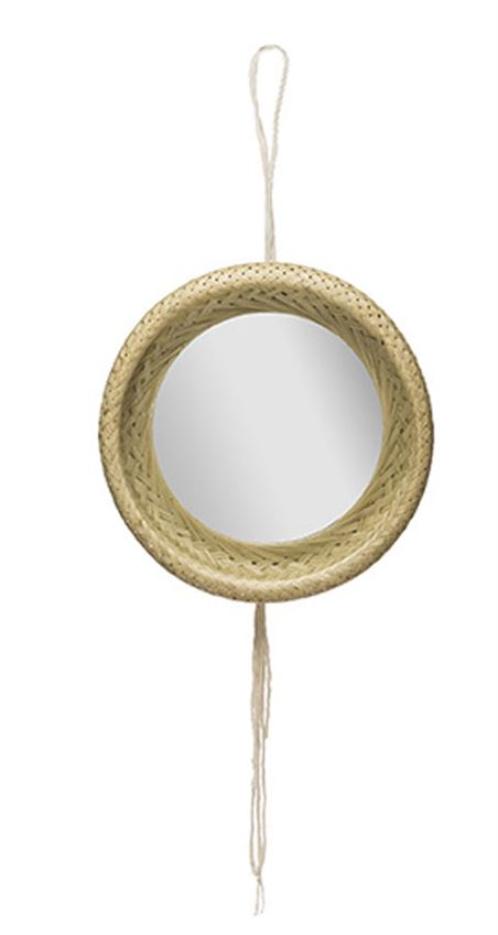 Bamboo Framed Wall Mirror