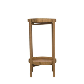 Rattan & Bamboo 2-Tier Tray Table