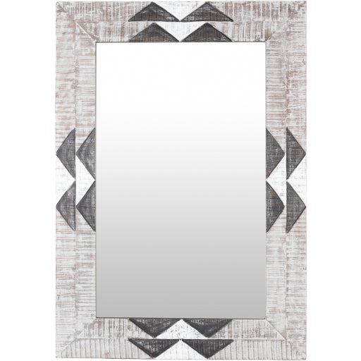 "40""x28"" Amrapali Mirror - Blue"