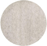 Citra Grey Hand Knotted Round Rug - 8'