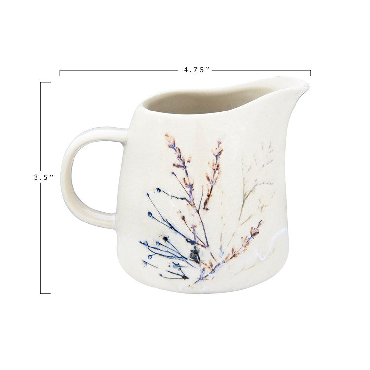 Load image into Gallery viewer, Debossed Floral Creamer