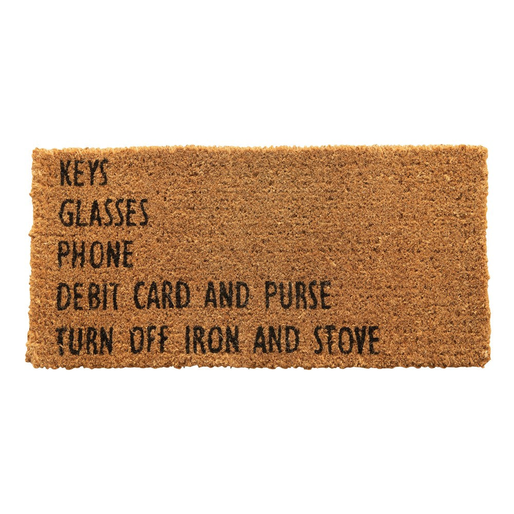 """Keys Glasses Phone"" Door Mat"