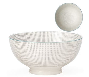 Load image into Gallery viewer, Kiri Bowl - Grey/Blue Trim