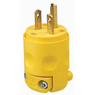 20A 250V Yellow Cord Cap