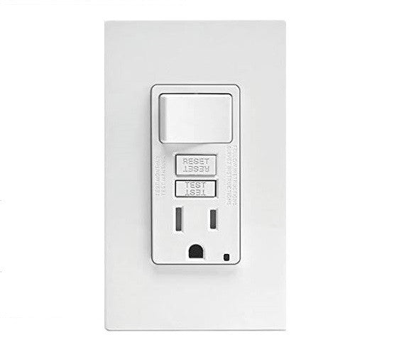 15A Combo Switch/GFI Tamper-Resistant Receptacle