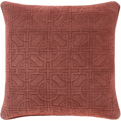 Quilted Burgundy Pillow
