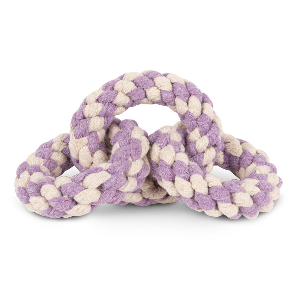 Tri-Ring Rope Dog Toy Lavendar