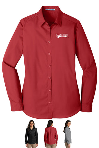 Ladies Long Sleeve Carefree Poplin Shirt - MCL