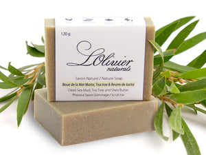 Dead Sea Mud & Shea butter Scrub Bar Soap