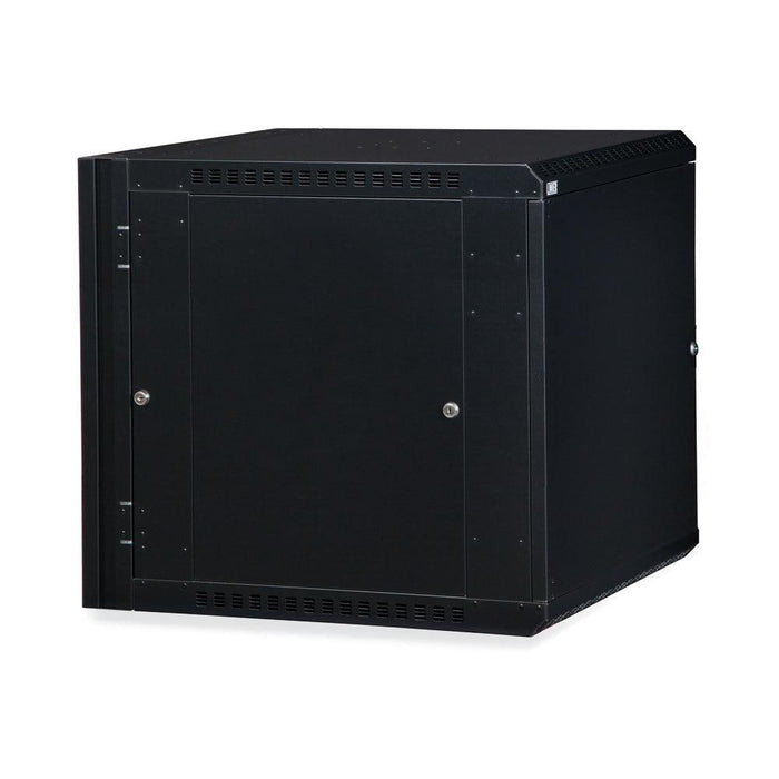 12U LINIER® Swing-Out Wall Mount Cabinet- Solid Door by Kendall Howard in Racks & Accessories  - Network Cables Online