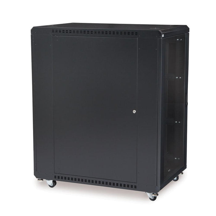 "22U LINIER® Server Cabinet - Glass/Solid Doors - 36"" Depth Racks & Accessories Kendall Howard"