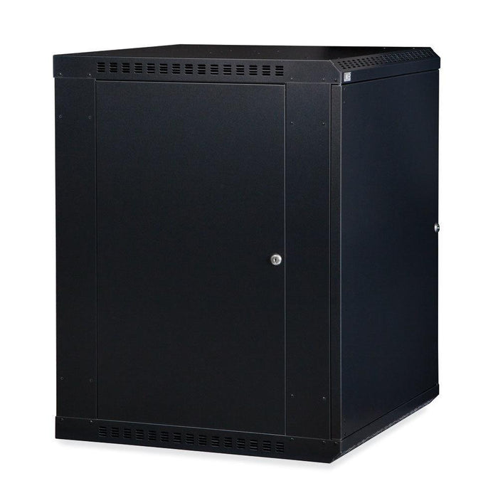 15U LINIER® Fixed Wall Mount Cabinet - Solid Door Racks & Accessories Kendall Howard