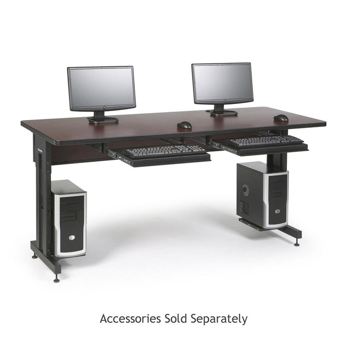"72"" W x 30"" D Training Table - African Mahogany by Kendall Howard in Training Tables  - Network Cables Online"