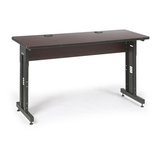 "60"" W x 24"" D Training Table - African Mahogany by Kendall Howard in Training Tables  - Network Cables Online"