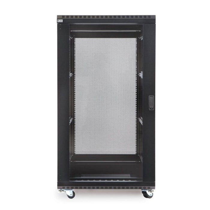 "22U LINIER® Server Cabinet - Glass/Glass Doors - 36"" Depth Racks & Accessories Kendall Howard"