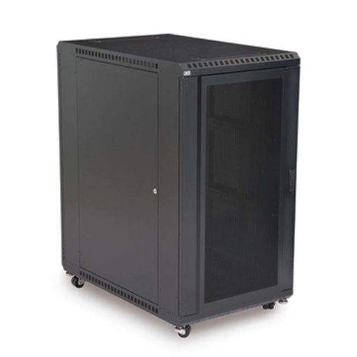 "22U LINIER® Server Cabinet - Convex/Vented Doors - 36"" Depth Racks & Accessories Kendall Howard"