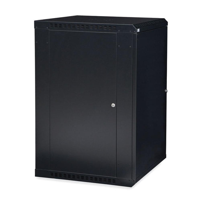 18U LINIER® Fixed Wall Mount Cabinet - Solid Door Racks & Accessories Kendall Howard
