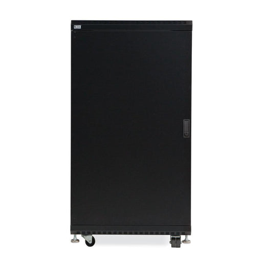 "22U LINIER® Server Cabinet - Glass/Solid Doors - 24"" Depth Racks & Accessories Kendall Howard"