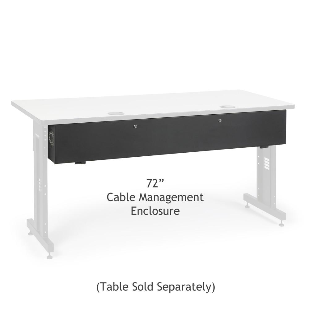 "72"" Training Table Cable Management Enclosure by Kendall Howard in Training Tables  - Network Cables Online"
