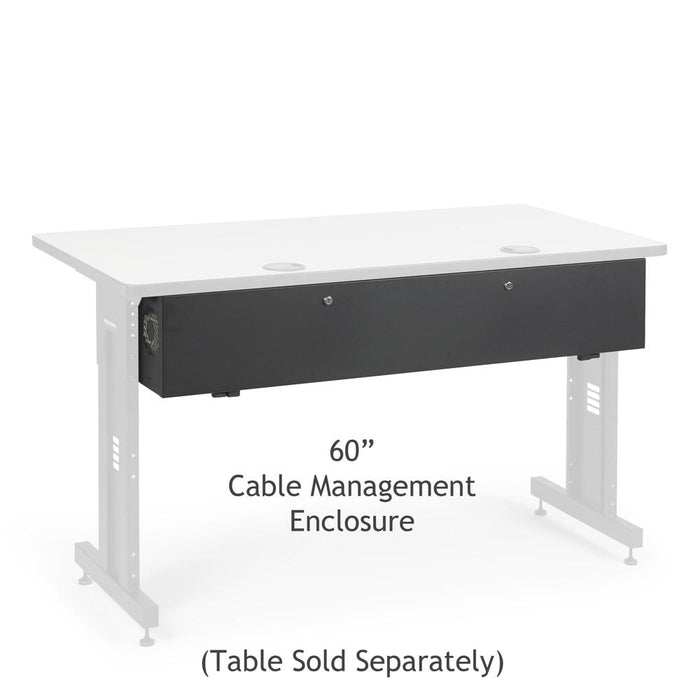 "60"" Training Table Cable Management Enclosure by Kendall Howard in Training Tables  - Network Cables Online"