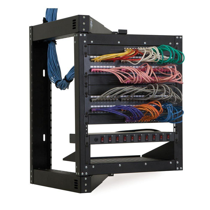18U Phantom Class® Open Frame Swing-Out Rack by Kendall Howard in Racks & Accessories  - Network Cables Online
