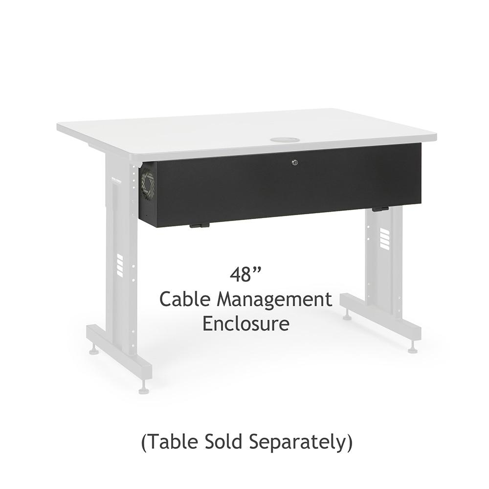"48"" Training Table Cable Management Enclosure by Kendall Howard in Training Tables  - Network Cables Online"
