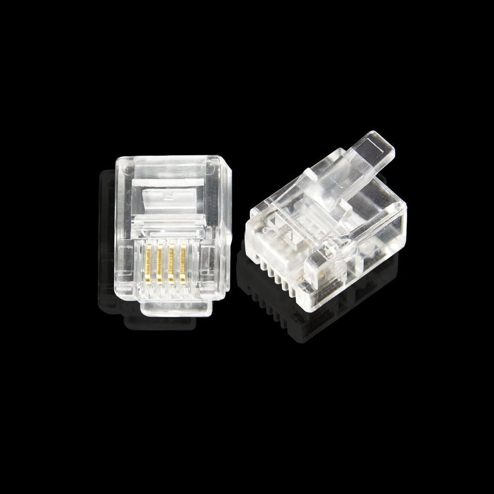 Modular Plug Connectors RJ11 (6P4C) 200 Pieces