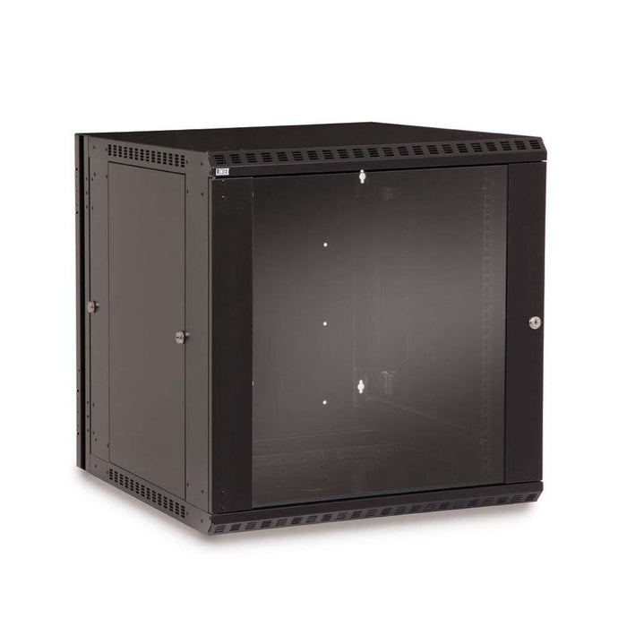 12U LINIER® Swing-Out Wall Mount Cabinet - Glass Door Racks & Accessories Kendall Howard
