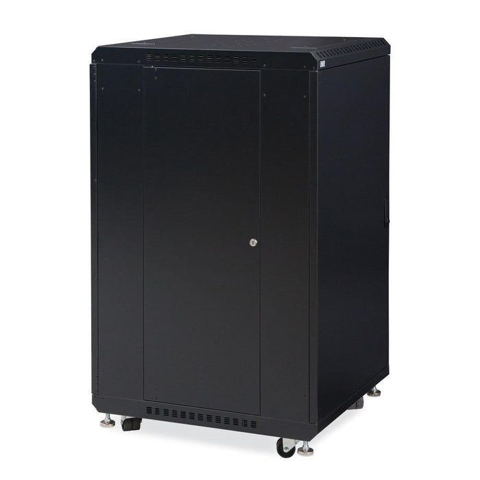 "22U LINIER® Server Cabinet - Solid/Convex Doors - 24"" Depth Racks & Accessories Kendall Howard"