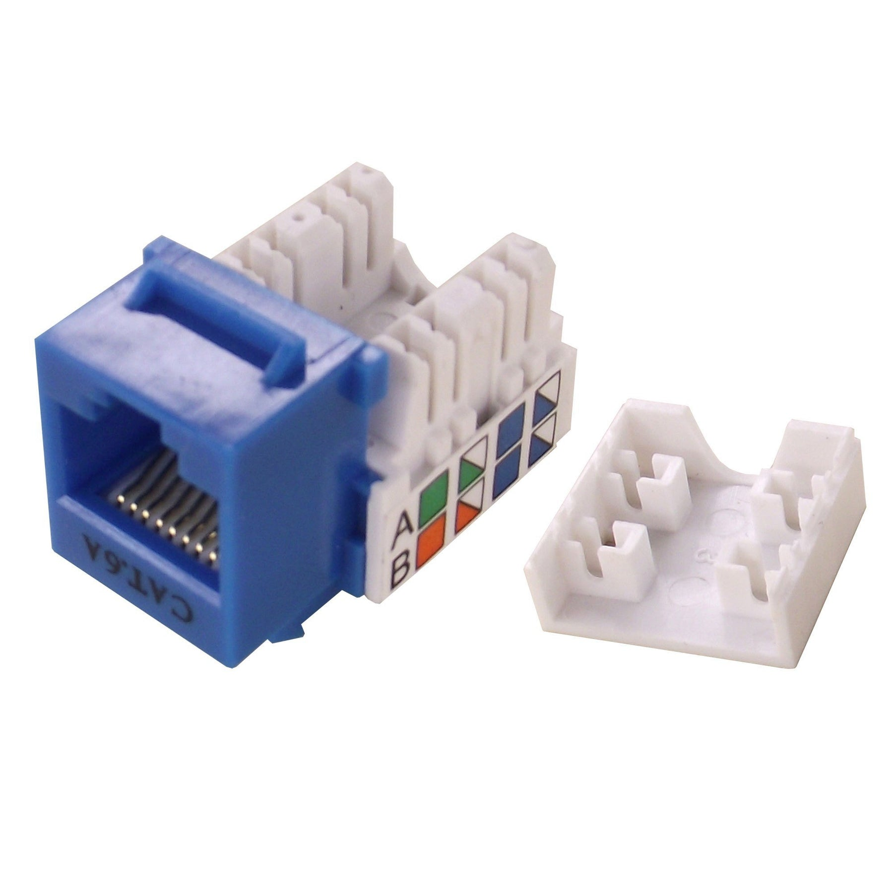 CAT 6A Keystone Jack, RJ45 To 110 Cat A Plug Wiring Diagram on cat 5 termination diagram, cat 2 wiring diagram, cat 6a cabinet, cat 6 jack diagram, cat 6 wiring diagram, cat 6e wiring diagram, cat 6 connectors diagram, cat 4 wiring diagram, cat 6a cable, cat 3 wiring diagram, cat 6 termination diagram, cat 5e wiring diagram, cat 5 wiring diagram, cat 7 wiring diagram, category 6 ethernet cable diagram, cat 5b wiring diagram, cat 6a standards, cat 6 cable diagram, cat 6 pin diagram, cat 5 wiring for female,